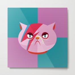 Glam cat Metal Print