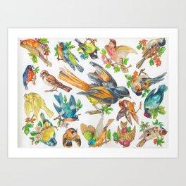 Birds, Birds, Birds Art Print