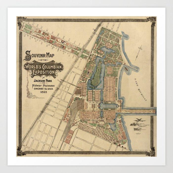 Chicago World Exposition 1893 Kunstdrucke