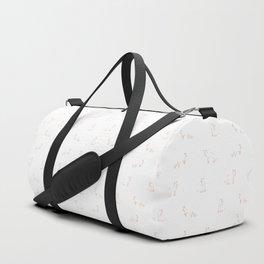 Red Fox Pattern Duffle Bag