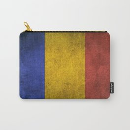 Old and Worn Distressed Vintage Flag of Romania Carry-All Pouch