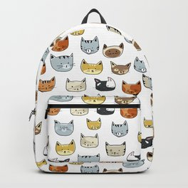 Cat Face Doodle Pattern Backpack