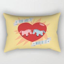 Unicorns are Worth It Rectangular Pillow