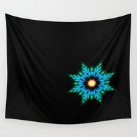 planets Wall Tapestries featuring Planets  by Patrick Takata
