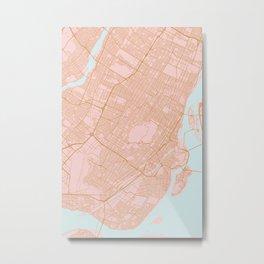 Montreal map, Canada Metal Print