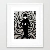 charlie chaplin Framed Art Prints featuring Charlie Chaplin by Gabrielle Wall