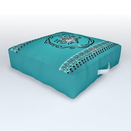 Tropical design, surfboard with flowers Outdoor Floor Cushion
