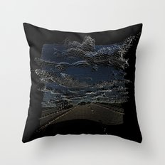 Pixelated Road Throw Pillow