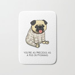 Precious Pug in Pyjamas Bath Mat