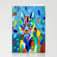 Stationery Cards featuring Splash Cat by fifthdimensionart