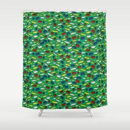 Brick by Brick Shower Curtain
