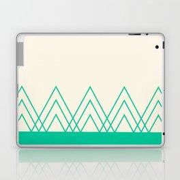 Mint Triangles Laptop & iPad Skin