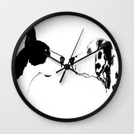 Great Dane Dog with Dalmatian Dog Wall Clock