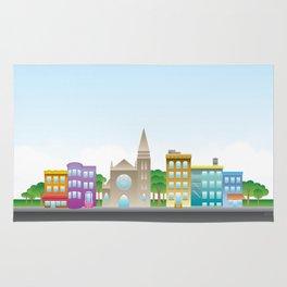 Park Slope Skyline (Color) Rug