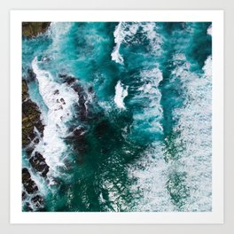 Looking Down on the Ocean Art Print
