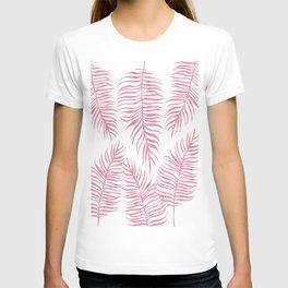 Fern Pattern Pink T-shirt
