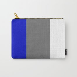 Team Colors 7...white,blue,gray Carry-All Pouch