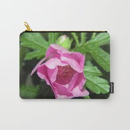 Musk Mallow - Pretty Pink Flower Carry-All Pouch