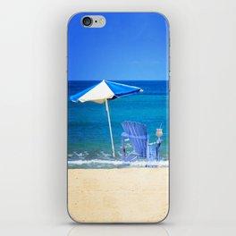 Blue Rocking Chair iPhone Skin