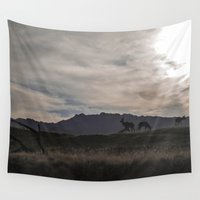 plain Wall Tapestries featuring On the Plain  by Liese May Photography