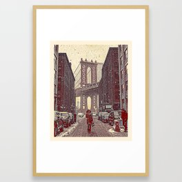 Brooklyn New York in Winter, United States 2 Framed Art Print