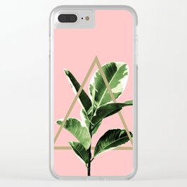 Ficus Elastica Geo Finesse #1 #tropical #foliage #decor #art #society6 Clear iPhone Case