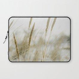Green Beach grass Photo | Nature Plantlife Photography | Close-up Beach Grass In Dunes Laptop Sleeve