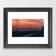 Any Minute Now Framed Art Print