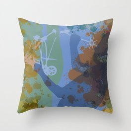 Voyager (Blue) Throw Pillow