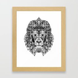 Patterned Lion Framed Art Print