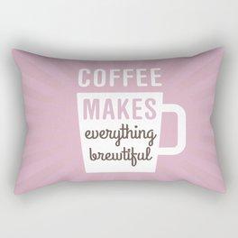 Coffee Brewtiful Rectangular Pillow