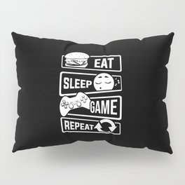 Eat Sleep Game Repeat | Video Game Console Gaming Pillow Sham