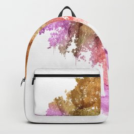 Watercolor tree painting Backpack