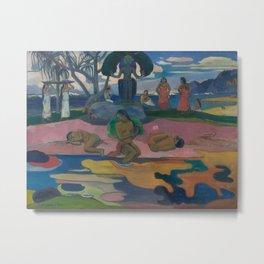 Paul Gauguin - Mahana no Atua / Day of the God (1894) Metal Print