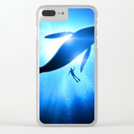 Whale Shine Clear iPhone Case