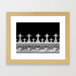Abstract Venetian Architectural Details in Black and White Framed Art Print