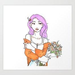 Bouquet of Flowers Art Print