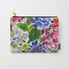 hydrangeas in green: watercolor flowers Carry-All Pouch