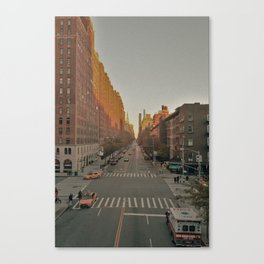 The Yellow Muted City (Color) Canvas Print