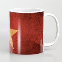 vietnam Mugs featuring Vietnam Flag by anhnt32