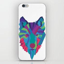 Neon Wolf iPhone Skin