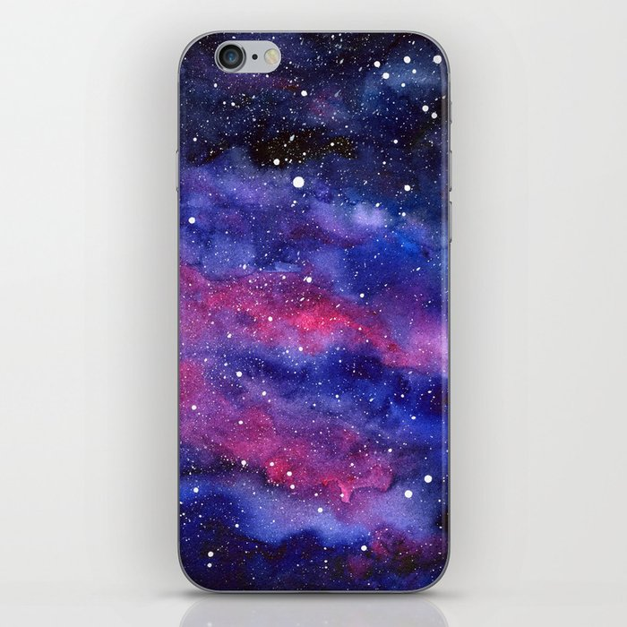 Nebula Galaxy Watercolor Space Sky iPhone Skin