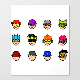 Teen Superhero Faces Canvas Print