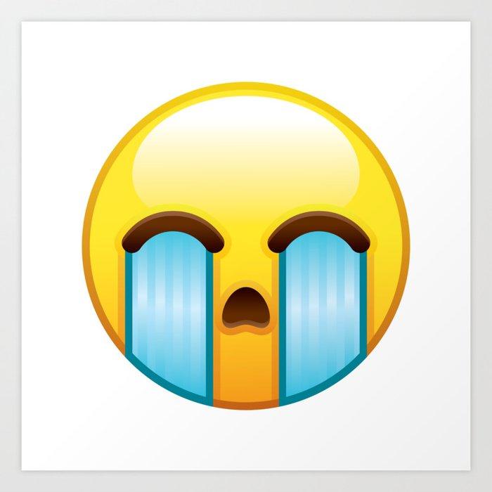 Crying Emoji Art Print by bortonia