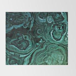 MALACHITE GREEN Throw Blanket