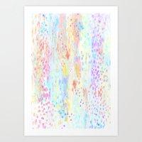 Abstract Pastel 3 Art Print