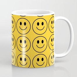 Smiley Face Pattern - Super Yellow Variant Coffee Mug