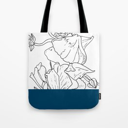 VESSEL - Floral Ink in Peacock - Cooper and Colleen Tote Bag