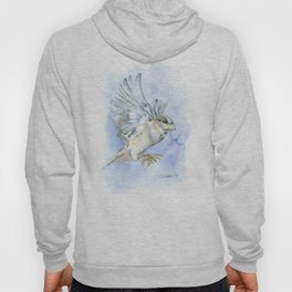Sparrow Watercolor Hoody