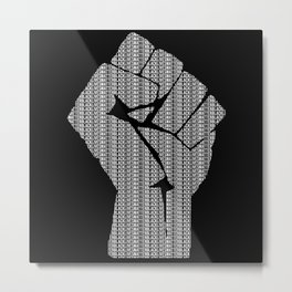 Black Lives Matter Fist Black History Metal Print